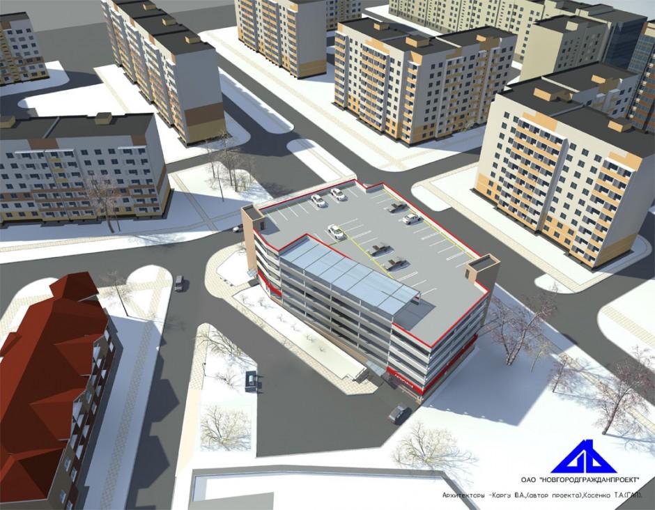 Проект пятиэтажного паркинга на пересечении Волотовской и Батецкой улиц
