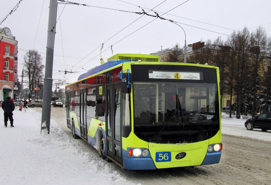 Низкопольный троллейбус ВМЗ-5298 в Рыбинске