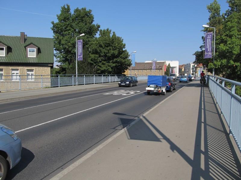 мост с автобусной полосой в Швайнфурте