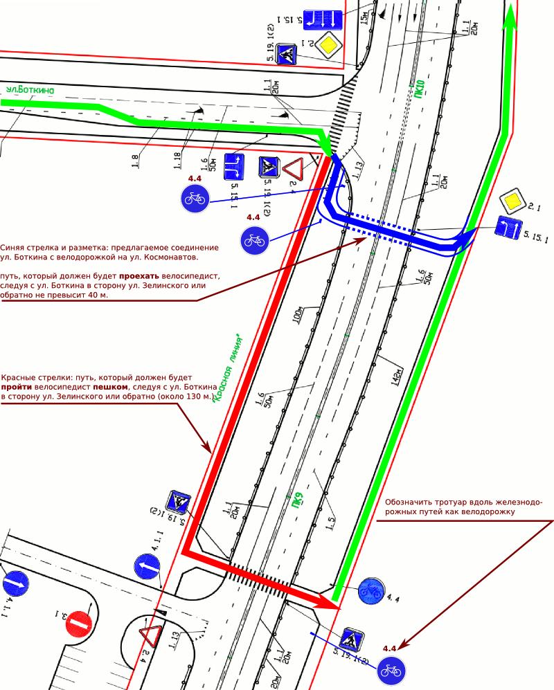 """Строительство улицы Космонавтов: очередная велодорожка """"из ниоткуда в никуда""""?"""