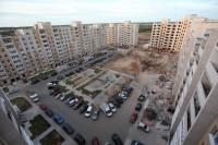 Ошибки проектирования в новых дворах: заблокированный тротуар