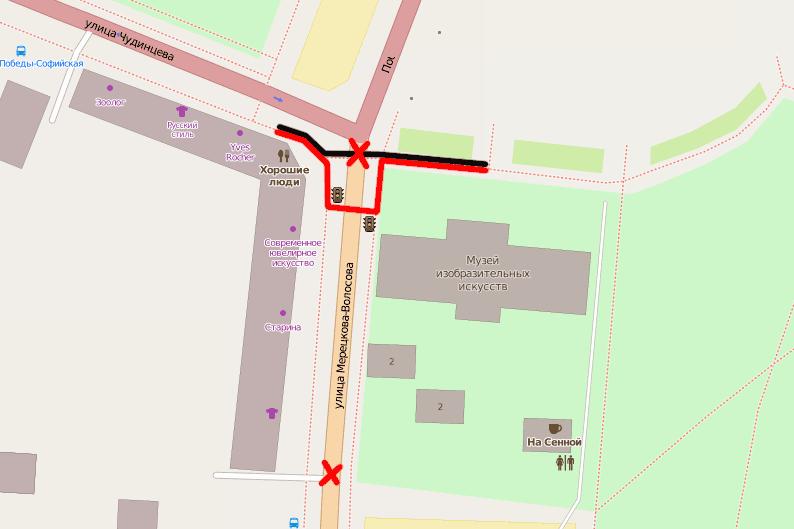 Новгородцы не поддержали идею переноса пешеходного перехода на Софийской площади