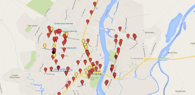 Представляем электронную карту ДТП с пешеходами за 2015 год