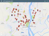 «Новый город» представляет электронную карту ДТП с пешеходами за 2016 год