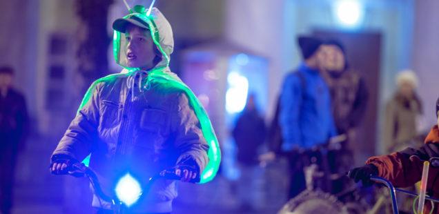 25 марта в Великом Новгороде в четвёртый раз пройдёт акция «Велосветлячки»