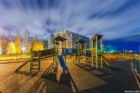 Детская площадка в Веряжском сквере: природные мотивы в спальном районе